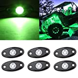 SUNPIE Green LED Rock Lights Kits with 6 pods Lights for Jeep Off Road...