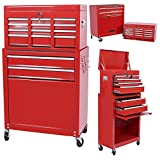 Handyman Heavy Duty Steel Toolbox with Chests and Roller Cabinets 4...