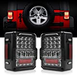 DOT Approved 4D LED Tail Lights Compatible with 2007-2017 Jeep...