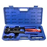 IWISS PEX Pipe Crimping Tool Kit for 3/8,1/2,3/4,1-inch Copper Ring...