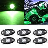 SUNPIE Green LED Rock Lights Kits with 6 pods Lights for Road Truck...