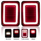 Upgraded LED Tail Lights Smoked Compatible with 07-18 Jeep Wrangler JK...