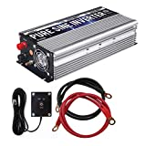 GoWISE Power 1000W Pure Sine Wave Inverter 12V DC to 120V AC with 2 AC...