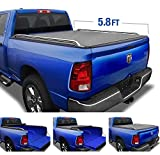 Tyger Auto T2 Low Profile Soft Roll Up Truck Bed Tonneau Cover for...